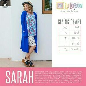 LulaRoe Cobalt Sarah Cardigan Size S